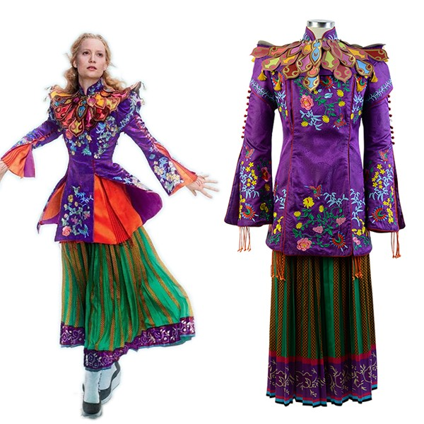 Alice Mandarin Alice Through The Looking Glass Outfit Cosplay Costume