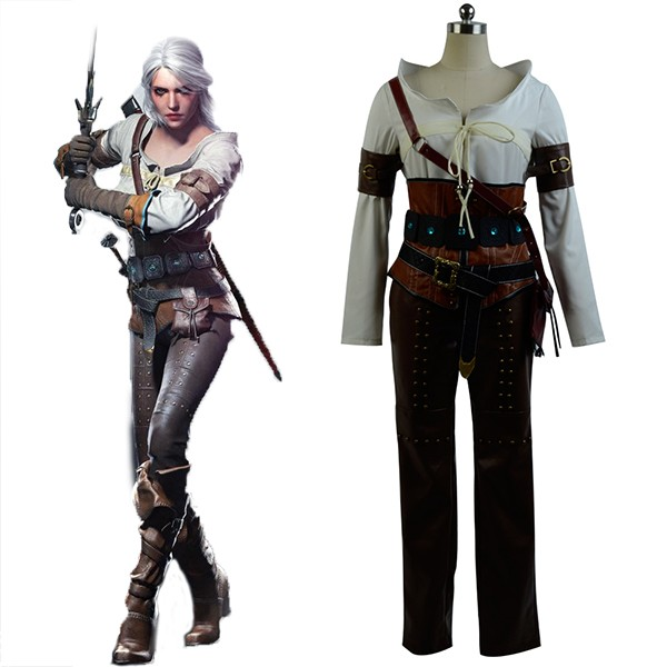 Ciri Cirilla The Witcher 3 Wild Hunt Ciri Cirilla Fiona Elen Cosplay Costume