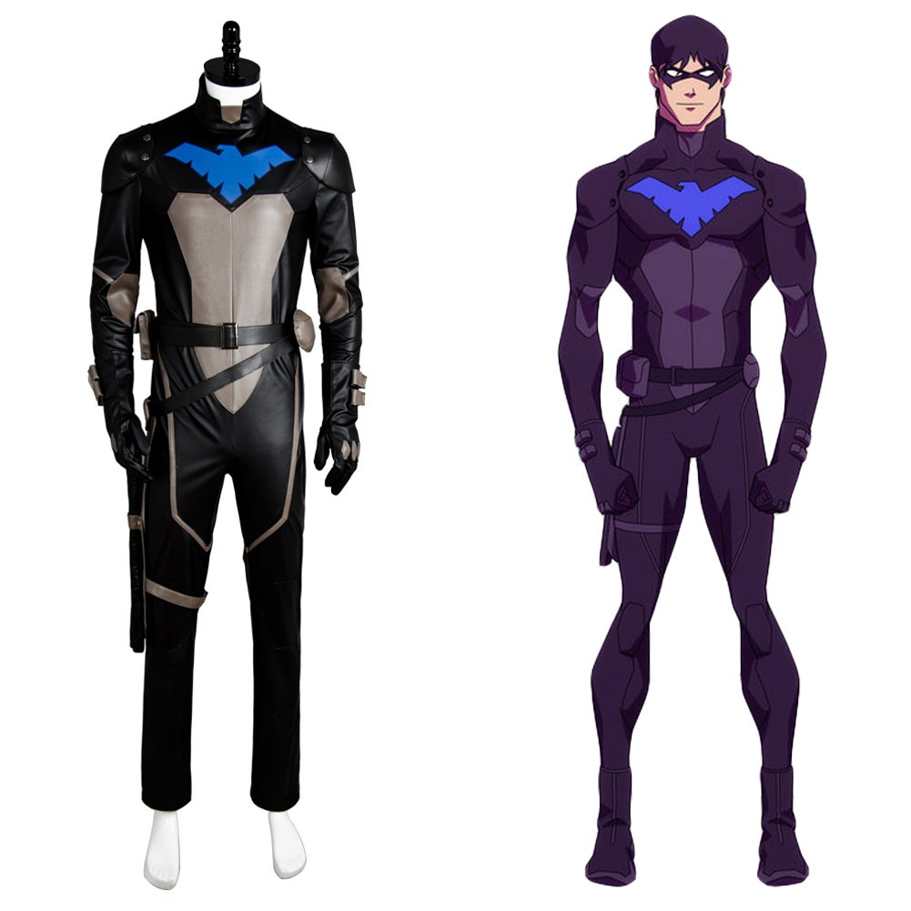 Nightwing Young Justice S2 Uniform Jumpsuit Cosplay Costume  sc 1 st  Skycostume.com & Nightwing Young Justice S2 Uniform Jumpsuit Cosplay Costume - Skycostume