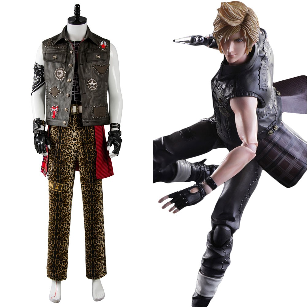 Prompto Argentum Final Fantasy XV FF15 Outfit Cosplay Costume