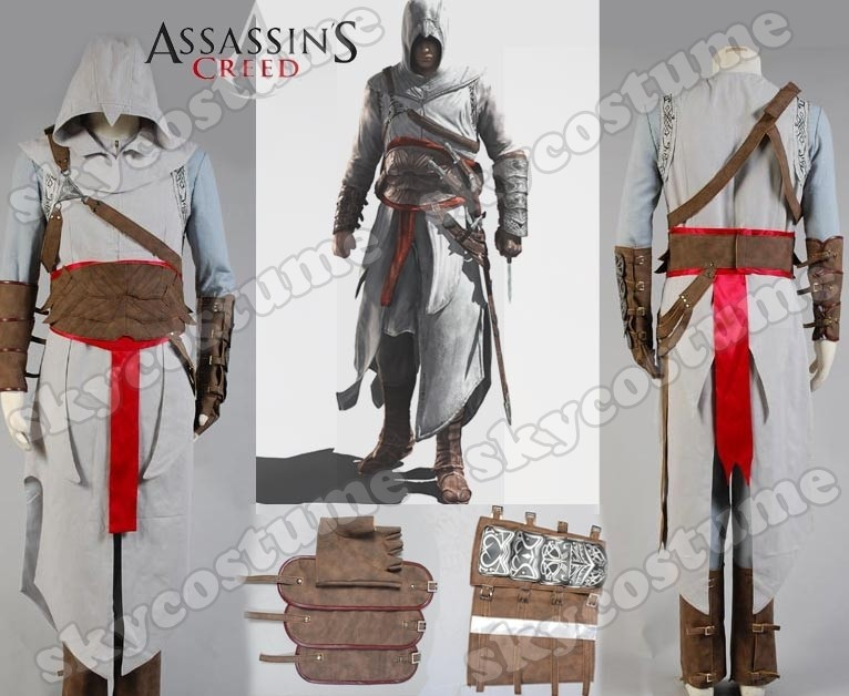 Assassin's Creed 2 II Ezio Revelation Altair Cosplay Costume Full Outfit