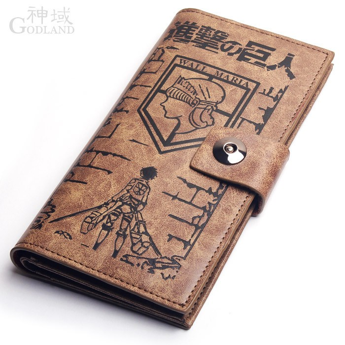 Attack on Titan Shingeki no Kyojin Bag Purse Leather Wallet from Attack on Titan