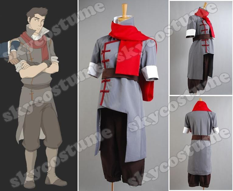 Avatar The Legend of Korra Mako Cosplay Costume Grey Version from Avatar The Legend of Korra