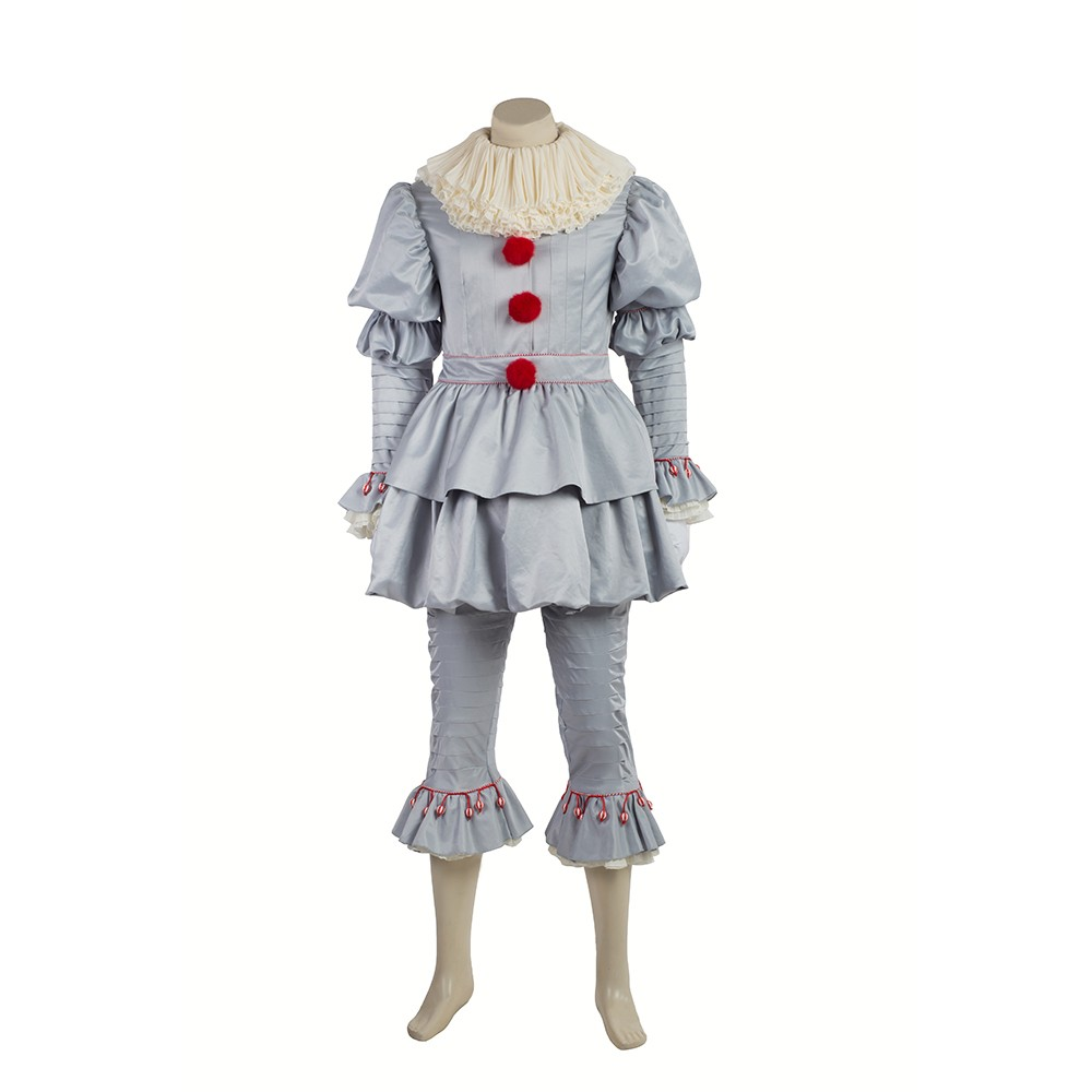 2017 IT Movie Pennywise The Clown Outfit Cosplay Costume ...