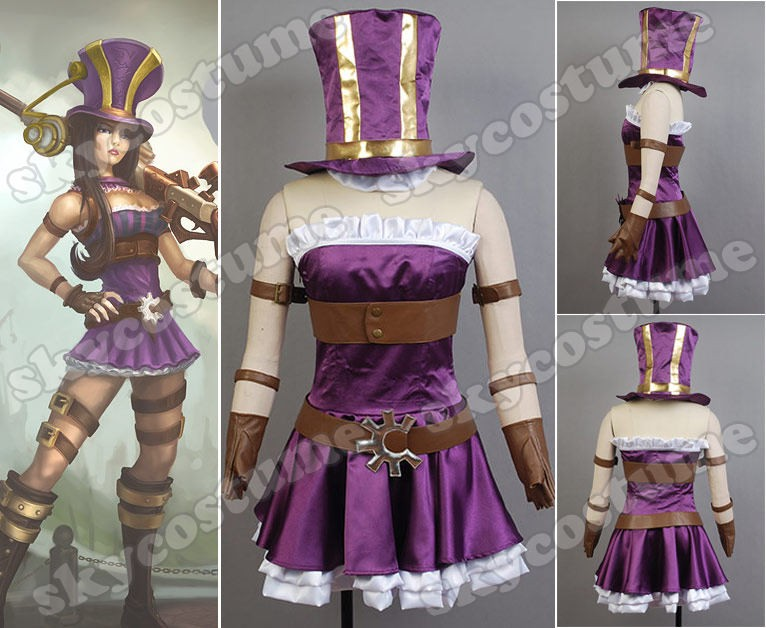 lol league of legends caitlyn cosplay costume from league of legends - Splinter Cell Halloween Costume