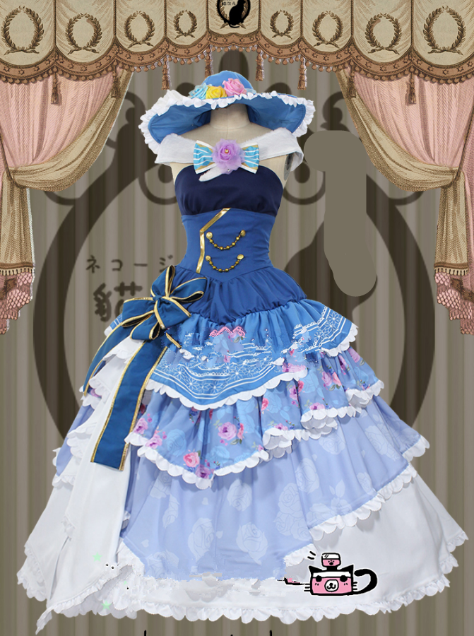 Eli Ayase LoveLive! Cosplay Ball Gown Dress Anime Cosplay Costume