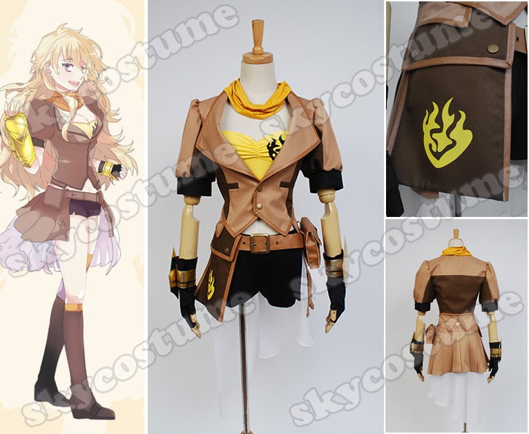 RWBY Yellow Trailer Yang Xiao Long Dress suit Cosplay Costume from RWBY