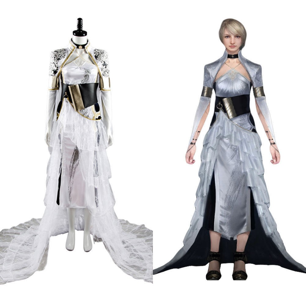 Luna Final Fantasy XV FF 15 Costume Lunafreya Nox Fleuret Dress Cosplay Costume