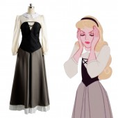 Disney Film Sleeping Beauty Adult Cosplay Party Princess Dress Costume Prom Gown