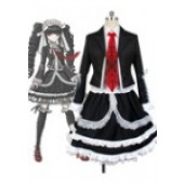Danganronpa Dangan-Ronpa Celestia Ludenberg Dress Cosplay Costume from Danganronpa