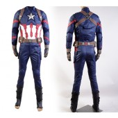 Steve Rogers Captain America: Civil War Uniform Cosplay Costume