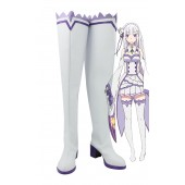 Re:Zero Life in a Different World from Zero Emilia Cosplay Shoes