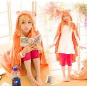 Umaru-chan Himoto/Himouto Costume Umaru-chan Cosplay Cloak Outfit Flannel Blanket Quilt