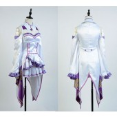 Emilia Re:Zero Life in a Different World from Zero Outfit Cosplay Costume