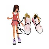 Kingdom Hearts Kairi Cosplay Shoes Imitated Leather Boots from Kingdom Hearts