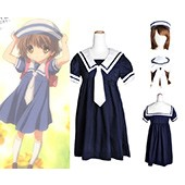 CLANNAD Ushio Okazaki Girl School Uniform Cosplay Costume from Clannad