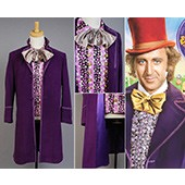 Willy Wonka and the Chocolate Factory Jackt Coat Cosplay Costume from Kiniro Mosaic
