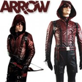 Arrow Season 3 Red Arrow Roy Harper Arsenal Red Cosplay Costume from Arrow