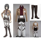 Attack on Titan Shingeki no Kyojin Training Corps Mikasa Boots Costume from Attack on Titan