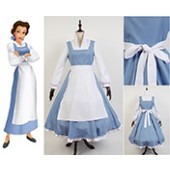 Beauty and Beast the Maid Gown Apron Dress Outfit Cosplay Costume from Beauty and The Beast