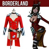 Borderlands 2 Mad Moxxi Red Uniform Cosplay Costume from Borderlands 2