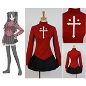 Fate/stay night Rin Tōsaka Coat Skirt Outfit Cosplay Costume Version 2 from Fate/stay night