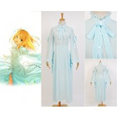 Fate/stay night Saber King Arthur Arturia Dress Chiffon Outfit Cosplay Costume from Fate/stay night