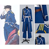FullMetal Alchemist Cosplay Roy Mustang Uniform Costume from Fullmetal Alchemist