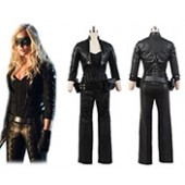 Green Arrow Black Canary Sara Lance Artificial Leather Outfit Movie Cosplay Costume from Green Arrow