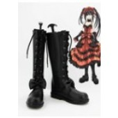 DATE A LIVE Tokisaki Kurumi Nightmare Cosplay Shoes Boots from Date A Live