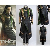 Thor The Dark World Loki long Coat Whole Set Movie Cosplay Costume 2014 Halloween costumes