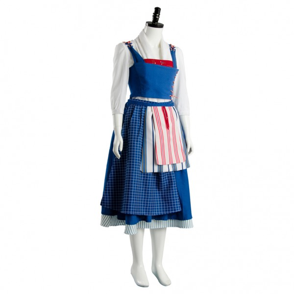 Belle Emma Beauty and the Beast 2017 Film Watson Cosplay Costume Maid Suit Dress  sc 1 st  Skycostume.com & Belle Emma Beauty and the Beast 2017 Film Watson Cosplay Costume ...