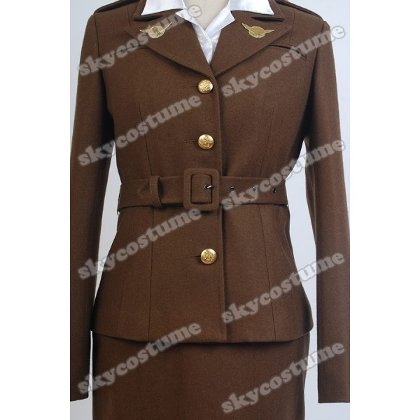 captain america the first avenger agent peggy carter suit cosplay costume from captain america