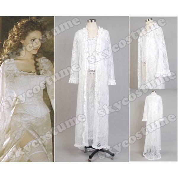 The Phantom of the Opera Christine Daae Fancy White Dress Gown ...