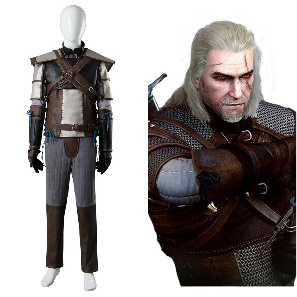 The Witcher 3 Wild Hunt Geralt of Rivia Cosplay Costume Custom Made Any Size