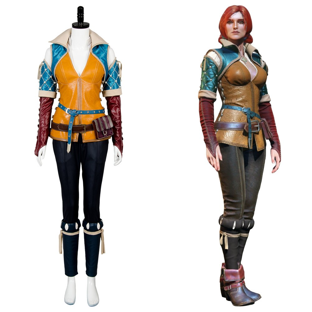 triss the witcher 3 wild hunt outfit cosplay costume