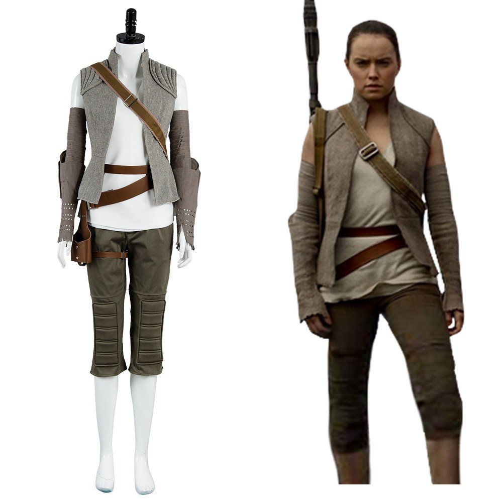 Rey Star Wars 8 The Last Jedi Outfit Cosplay Costume Skycostume
