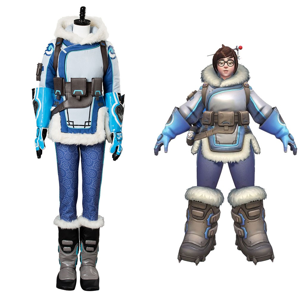 9fc5f8dda Mei Overwatch OW Whole Set Cosplay Costume - Skycostume