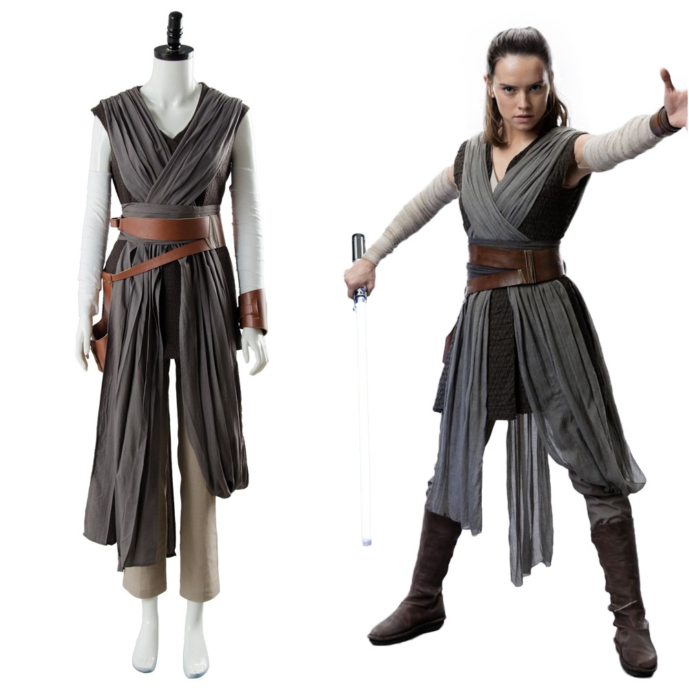 Rey Star Wars 8 The Last Jedi Outfit Ver.2 Cosplay Costume ...