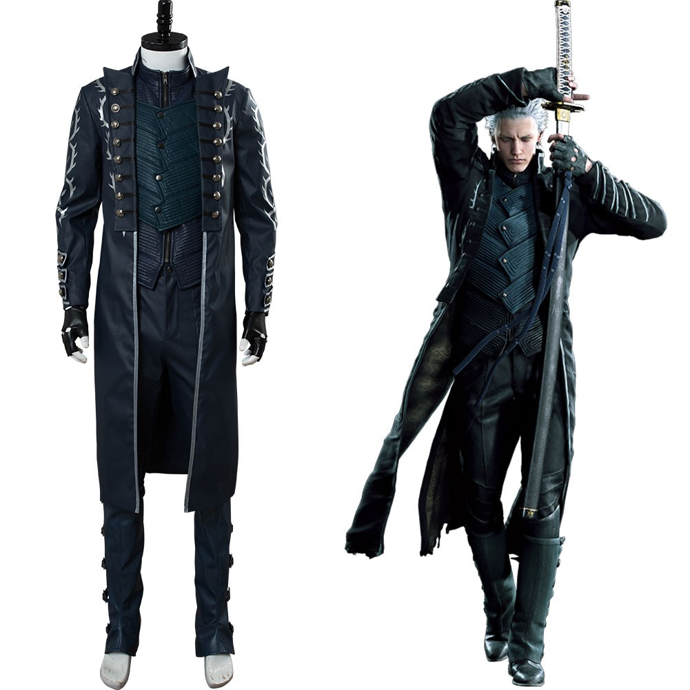 Vergil Aged Devil May Cry V Dmc5 Outfit Cosplay Costume