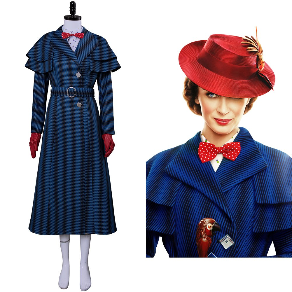 Mary Poppins Returns 2018 Mary Poppins Cosplay Costume