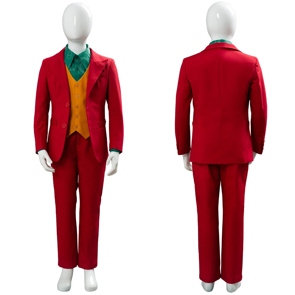 Joker 2019 Joaquin Phoenix Outfit Cosplay Costume For Kids