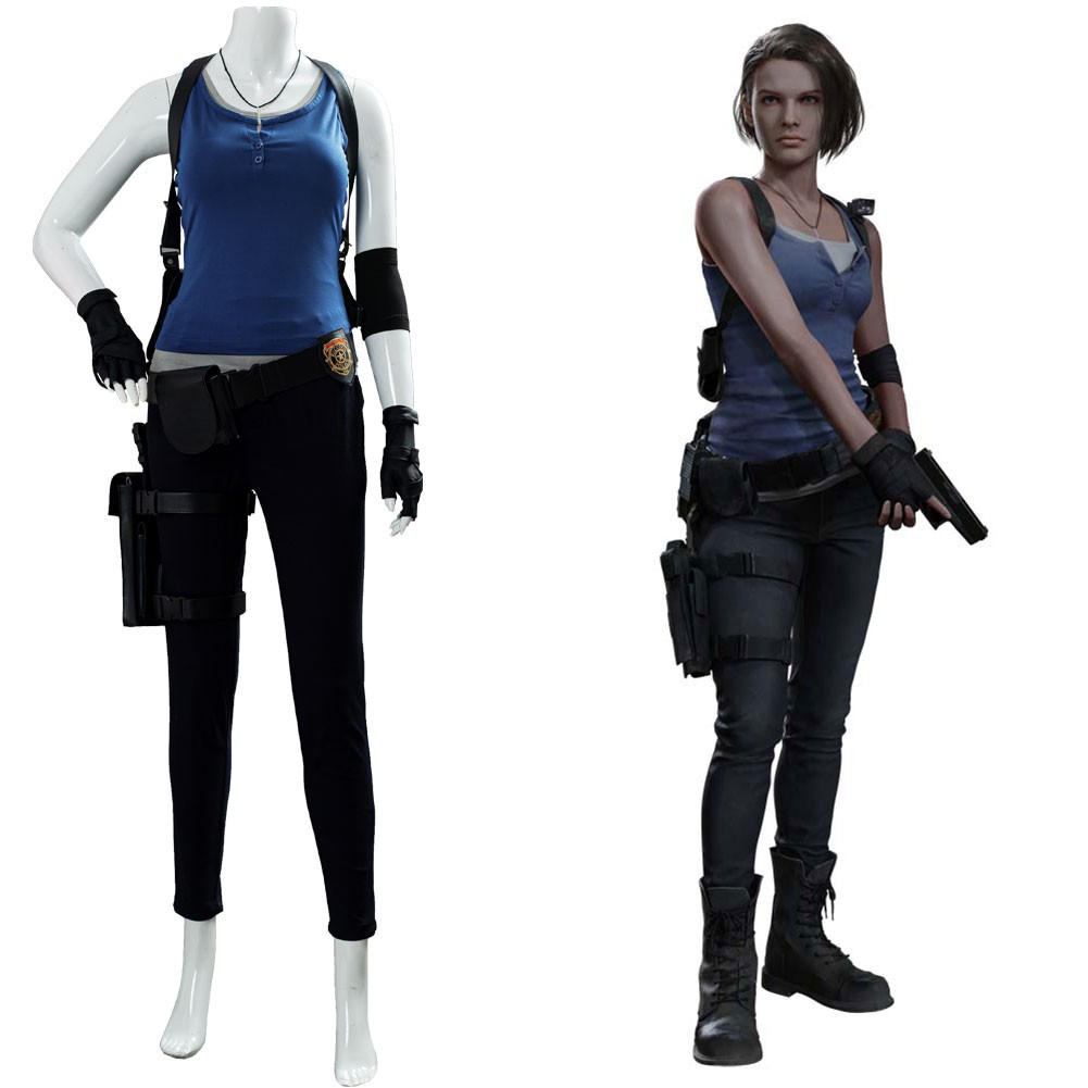 Jill Valentine Resident Evil 3 Remake Cosplay Costume Skycostume
