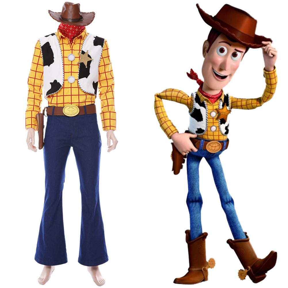 Sheriff Woody Toy Story 4 Cowboy Outfit Cosplay Costume Skycostume