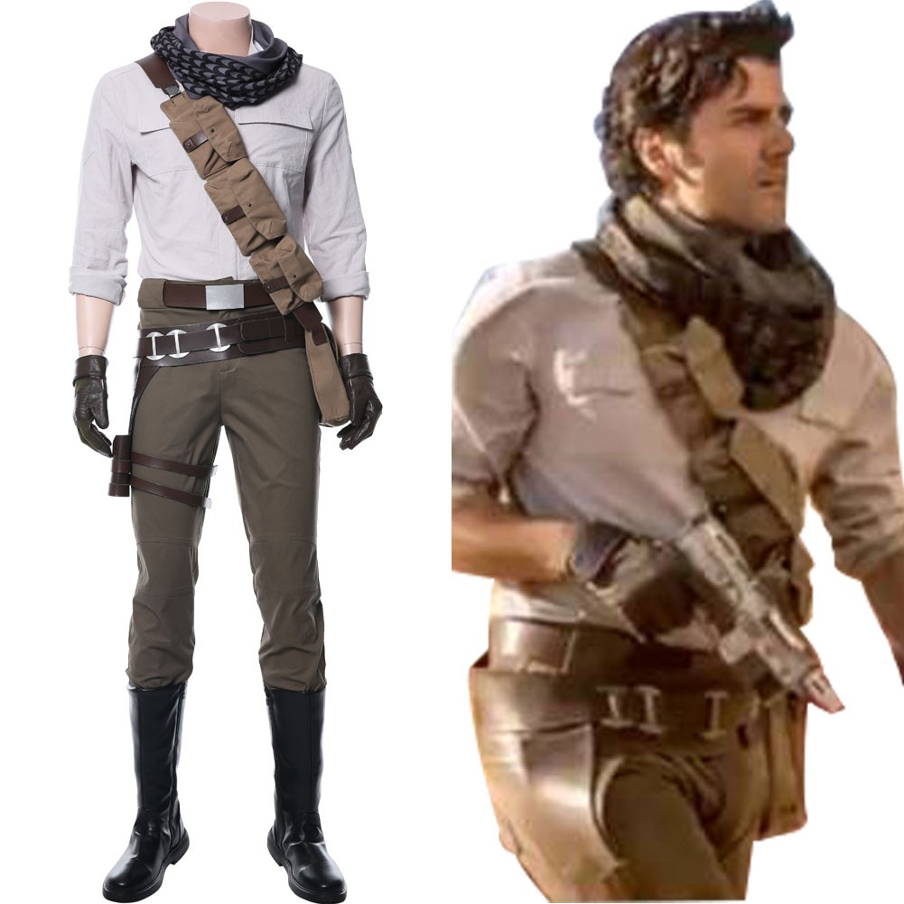 Poe Dameron Star Wars The Rise Of Skywalker Star Wars 9 Cosplay Costume Skycostume