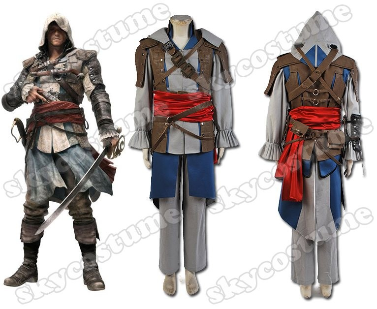Assassin S Creed 4 Black Flag Edward Kenway Outfit Game Cosplay