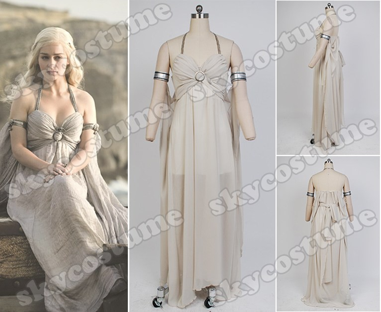 adbc93c49 Game of Thrones Daenerys Targaryen Mother of Dragons Dress Suit Cosplay  Costume from Game of Thrones