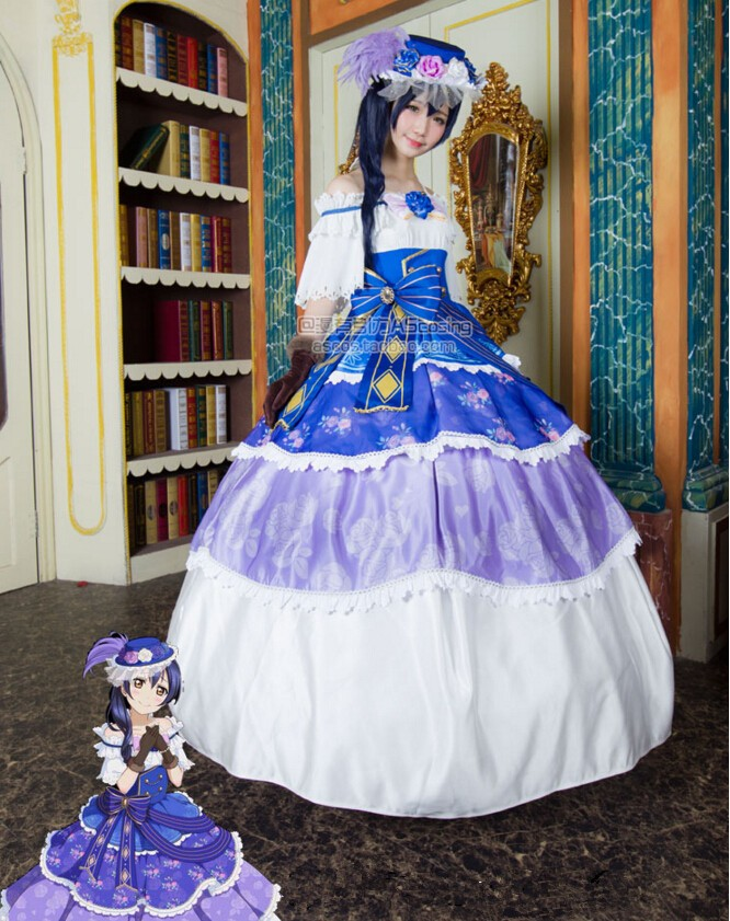 Umi Sonoda LoveLive! Cosplay Ball Gown Dress Anime Cosplay ...