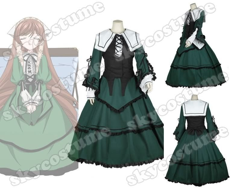 Rozen Maiden Jade Stern Cosplay Costume Customized Any Size Note pls
