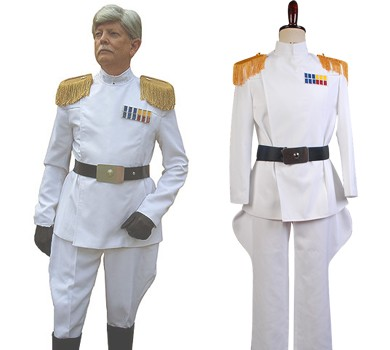 Star Wars Imperial Officer White Grand Admiral Uniform Cosplay